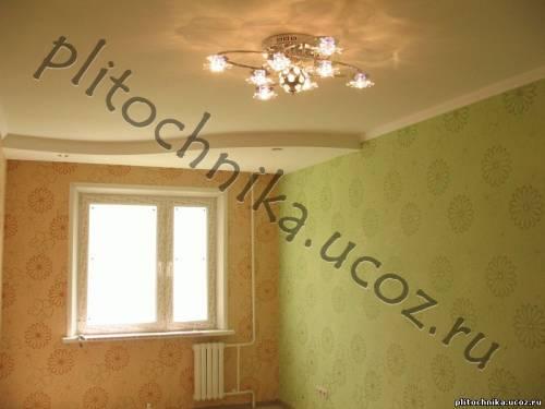 Дизайн потолков из гипсокартона для маленькой гостиной